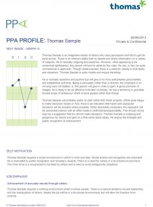 PPA Profile Sample
