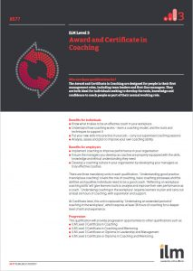 ILM Level 3 Award and Certificate in Coaching & Mentoring Q Card