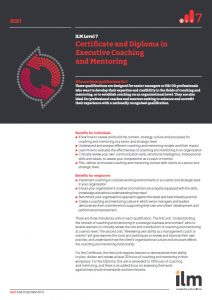 ILM Level 7 Certificate and Diploma in Executive Coaching and Mentoring